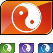 Yin Yang web icon — Stock Vector