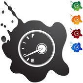 Fuel indicator web icon — Stock Vector