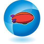 Blimp web icon — Stock Vector