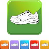 Sports Shoe web icon — Stock Vector