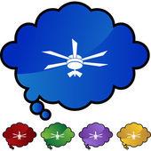 Pulsante del ventilatore di soffitto — Vettoriale Stock