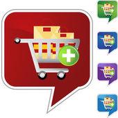 Add Cart web icon — Stock Vector