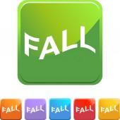 Fall web button — Stock Vector