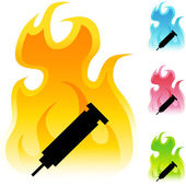 Syringe web icon — Stock Vector