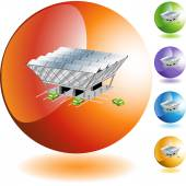 Solar Station web icon — Stock Vector