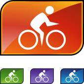 Cycling Swimmer web — Stock Vector