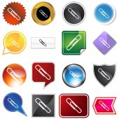 Paperclip variety icon set — Stock Vector