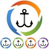Boat Anchor web icon — 图库矢量图片