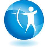 Archery Sport  web icon — Wektor stockowy