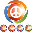 Peace sign web button — Vettoriale Stock  #64160517