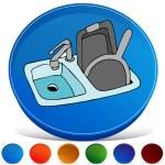 Kitchen Sink Gemstone Button Set — Stock Vector #64165063