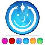Idea Man Shiny Button Set — Stock Vector #64165181