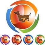 Running Dog web icon — Stock Vector #64165341