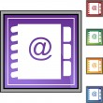 Address Book web button — Stock Vector #64166129