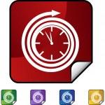 Clock web button — Stock Vector #64167063