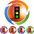 Traffic Light web button — Stock Vector #64169685