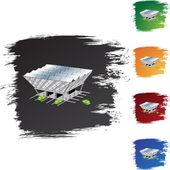 太阳能站 web 图标 — 图库矢量图片