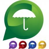 Umbrella web icon — Stock Vector