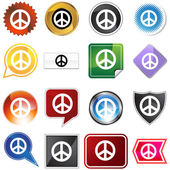 Peace variety set — Stock Vector