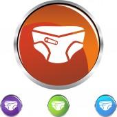 Diaper  web icon — Stock Vector