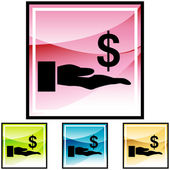 Lender web icon — Stock Vector