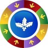 Christmas mistletoe web button — Stock Vector