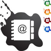 Schaltfläche Adresse Buch web — Stockvektor