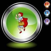 Riding Hood button — Cтоковый вектор