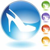 Strap Shoe Crystal Icon — Stock Vector