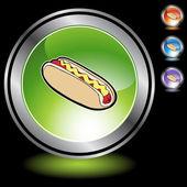 Hotdog icon button — Stock Vector