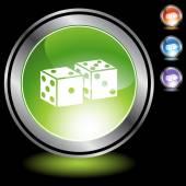 Dice web icon — Stock Vector