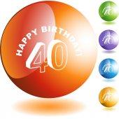Happy Birthday Forty — Stock Vector