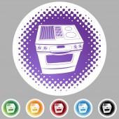炉子 web 按钮 — 图库矢量图片