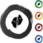 Paralysis button icon — Stock Vector