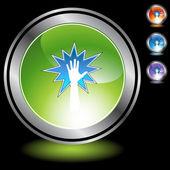 Powerful Hand web icon — Stock Vector