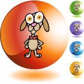 Beagle web icon — Stock Vector