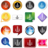 Oil well variety set — Stock Vector