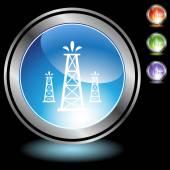 油井 web ボタン — ストックベクタ