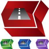 Road  web button — Vecteur