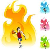 ícone de jogador de basquete — Vetor de Stock