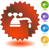 Wasserwasserhahntropfrohr — Stockvektor