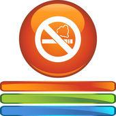 Geen rookvrije knop — Stockvector