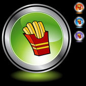 French Fries web button — Stock Vector