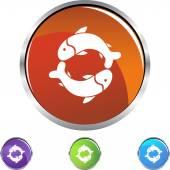 Pisces web button — Stock Vector