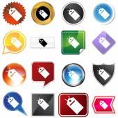 Hang tag variety icon set — Stock Vector