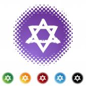 Jewish Star web icon — Stock Vector