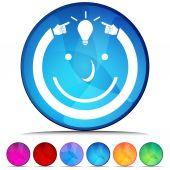 Idea Man Shiny Button Set — Stock Vector