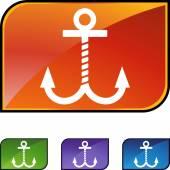 Boat Anchor web icon — Vettoriale Stock