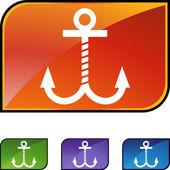 Boat Anchor web icon — Stockvektor