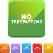No Trespassing colorful icons — Stock Vector